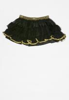 POP CANDY - Tulle skirt - black & gold