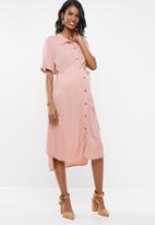 Cherry Melon - Long shirt dress - pink