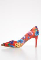 Footwork - Britney stiletto heel - red floral