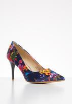Footwork - Britney stiletto heel - navy floral