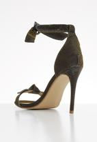 Footwork - Stacey studded ankle strap stiletto heel - green