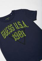 GUESS - Teens short sleeve guess usa 1981 tee - blue