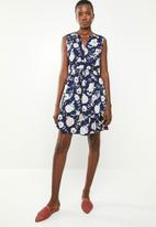 Revenge - Floral sleeveless tie waist dress - multi