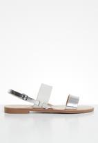 ONLY - Mandala mix sandal - white & silver