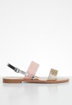 ONLY - Mandala mix sandal - pink & gold