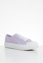 ONLY - Saloni plain canvas sneaker - purple