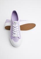 ONLY - Saloni plain canvas sneaker - purple