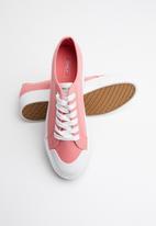 ONLY - Saloni plain canvas sneaker - pink