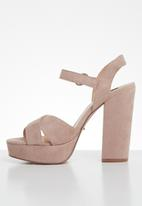 ONLY - Allie wide crossed heeled sandal - pink