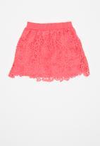POP CANDY - Layer crochet skirt - pink