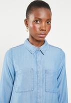ONLY - Leni shirt dess - blue