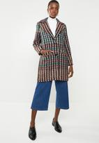 ONLY - Melrose check wool coat - multi