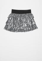 POP CANDY - Girls layered sequin skirt - grey