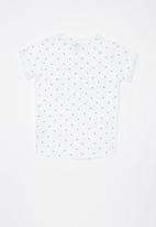 POP CANDY - Printed polka dot tee - white