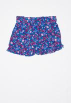 POP CANDY - Girls flouncing rayon shorts - multi