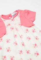 POP CANDY - Printed dress - pink & white