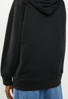 Superbalist - Graphic oversized hoodie - black