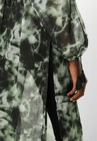 Superbalist - Maxi blouse with hi slit - green