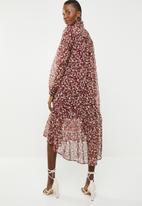 Superbalist - Printed peasant dress - multi