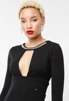 Sissy Boy - Maxi dress with diamante neck trim - black