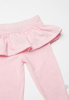 POP CANDY - Baby girls frill legging - pink