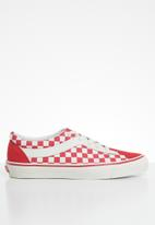 Vans - Bold- (checkerboard) racing red & marshmallow