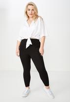 Cotton On - Curve fashion legging  - black