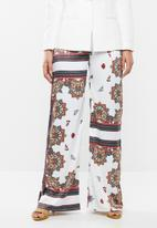 Missguided - Satin scarf trouser prints - multi