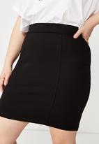 Cotton On - Curve pencil skirt  - black
