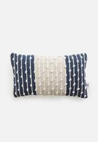 Sixth Floor - Bluebell woven cushion cover - navy & white