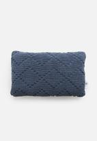 Sixth Floor - Breeze woven cushion cover - navy