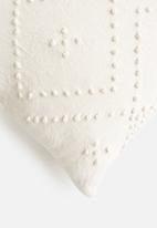 Sixth Floor - Armon woven cushion cover - white