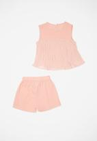 POP CANDY - Blouse & short set - pink