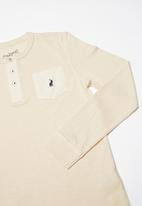 POLO - Teens ashton long sleeve henley tee - neutral
