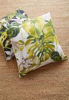 Hertex Fabrics - Borneo cushion cover - greenery