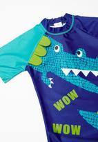 POP CANDY - Croc 2 pc swim suit - blue & green