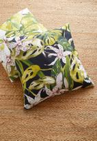 Hertex Fabrics - Borneo cushion cover - black