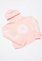Converse - Sig hoodie - pink & white