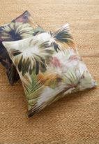 Hertex Fabrics - Kurrajong cushion cover - soft greens