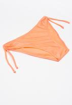 POP CANDY - Girls bikini with flower embroidery - orange