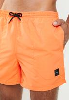 Only & Sons - Tan nt swim shorts - orange