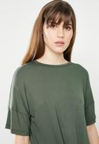 c(inch) - Knot front T-shirt - green