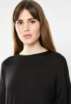 c(inch) - Knot front T-shirt - black