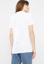 Missguided - Simple life graphic T-shirt - white