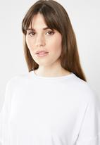 c(inch) - Knot front T-shirt - white