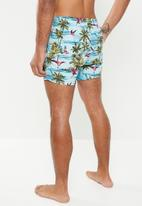 Only & Sons - Tan nt all over print swim shorts - multi