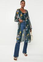 Superbalist - Maxi blouse with hi slit - multi