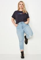 Cotton On - Curve graphic tee  - navy