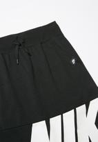 Nike - Girls filles air skirt - black & white