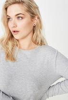 Cotton On - Curve round neck long sleeve  - grey